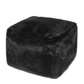 Faux Fur Cube - Jet - Allissias Attic  &  Vintage French Style
