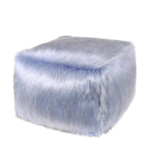 Faux Fur Cube - Cornflower - Allissias Attic  &  Vintage French Style