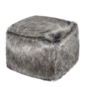 Faux Fur Cube - Lady Grey - Allissias Attic  &  Vintage French Style