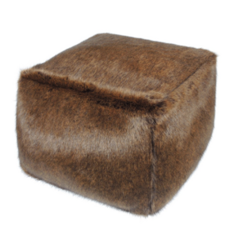 Faux Fur Cube - Golden Bear - Allissias Attic  &  Vintage French Style