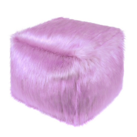 Faux Fur Cube - Lilac - Allissias Attic  &  Vintage French Style