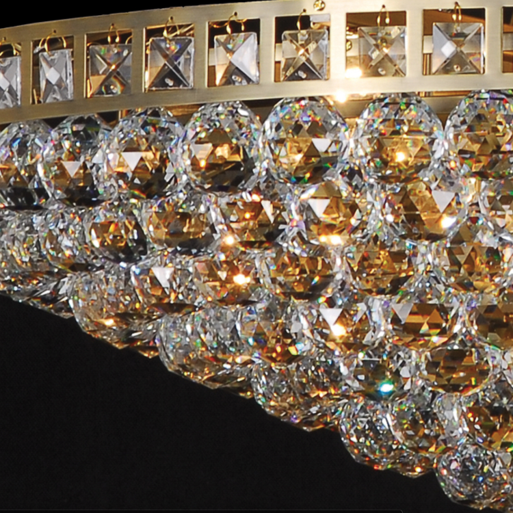 Large multi crystal ball chandelier allissias attic large multi crystal ball chandelier allissias attic vintage french style 1 aloadofball Image collections