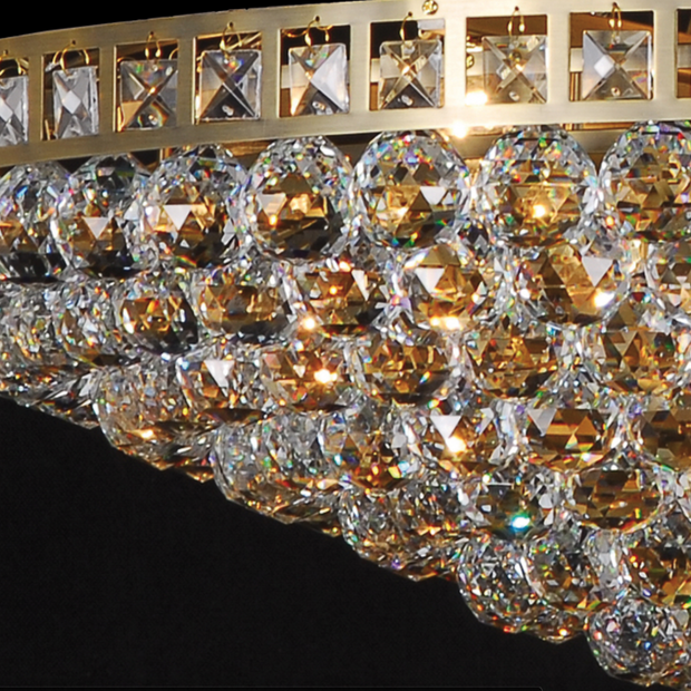 Large Multi Crystal Ball Chandelier - Allissias Attic  &  Vintage French Style - 1