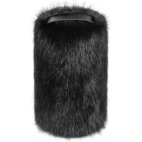 Faux Fur Doorstop - Jet - Allissias Attic  &  Vintage French Style - 1
