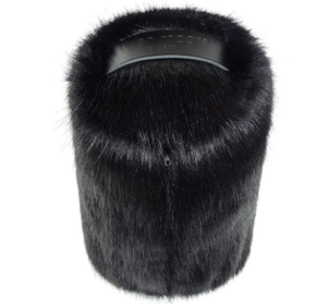 Faux Fur Doorstop - Jet - Allissias Attic  &  Vintage French Style - 2