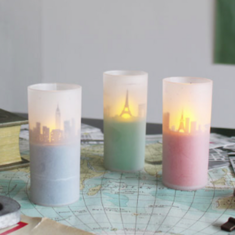 LED City Candle Light - Allissias Attic  &  Vintage French Style