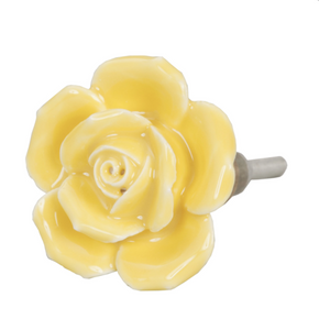 Yellow Flower Doorknob
