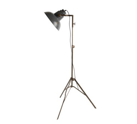 Industrial Styled Film Floor Lamp - Grey