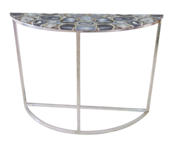low priced 9bcef 42762 Agate Half Moon Console Table