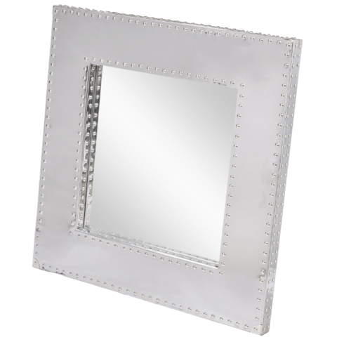 Polished Steel Square Mirror