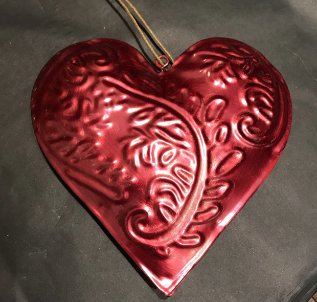 Red Hanging Heart Decoration