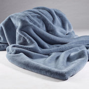 Katrina Hampton Faux Fur Throw - Soft Blue