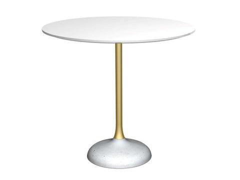 Elegant Round Dining Table Concrete Coupe Base - Small