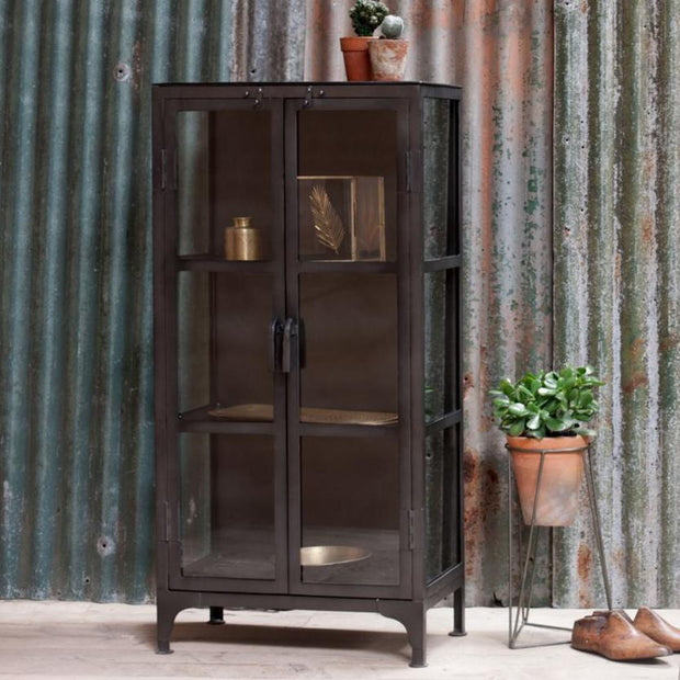 Tiko Iron & Glass Cabinet - Short