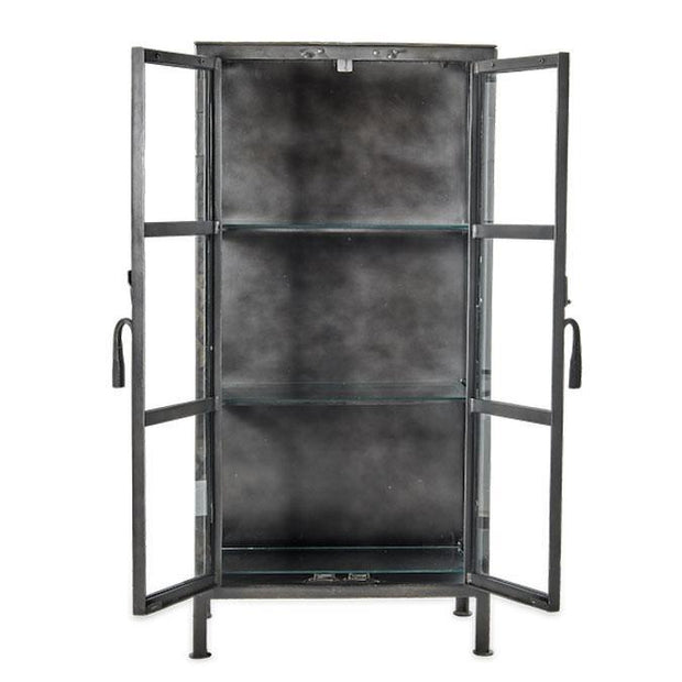 Tiko Iron & Glass Cabinet - Tall