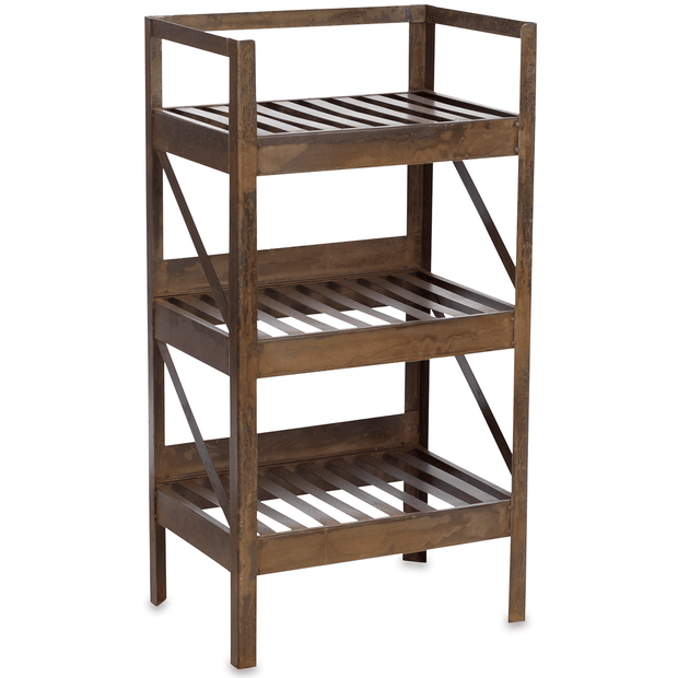 Industrial Timber Wall Hung Shelf Wine Rack