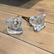 Square Glass Knob - Allissias Attic  &  Vintage French Style - 2