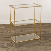 Gold leaf & glass Shelving Unit
