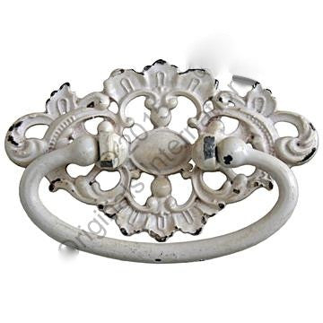 Ornate Drawer Handle - Cream - Allissias Attic  &  Vintage French Style