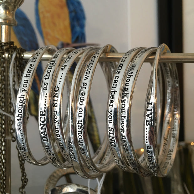 Dance Love Live Sing Bangles - Allissias Attic  &  Vintage French Style - 1