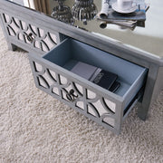 Antique Mirror & Timber Coffee Table