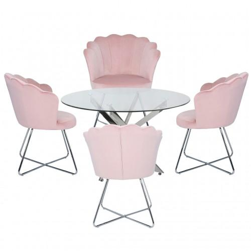 Nova 130cm Round Dining Table-Pink