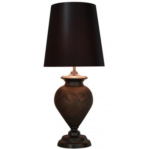 Black Matte Regal Lamp With Gunmetal Shade