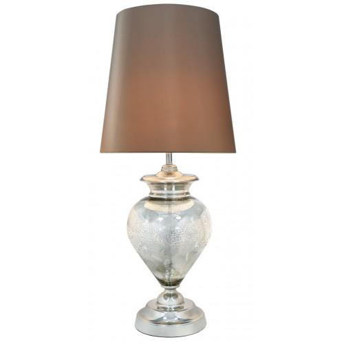 Mercury Pearl Regal Lamp With Champagne Shade