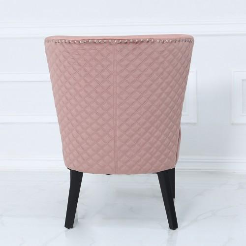 Pink Curved Back Chair