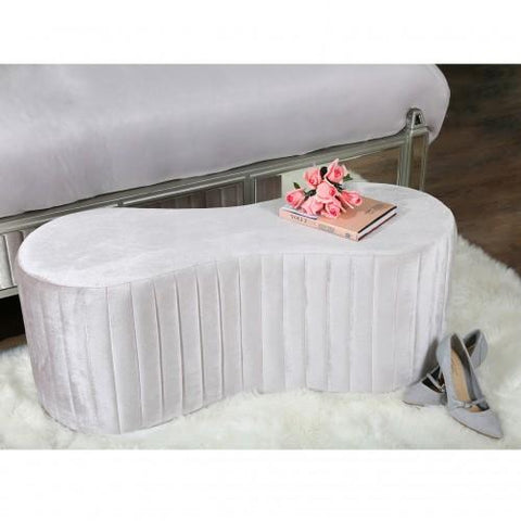Rosa Soft Pink Tufted Bench
