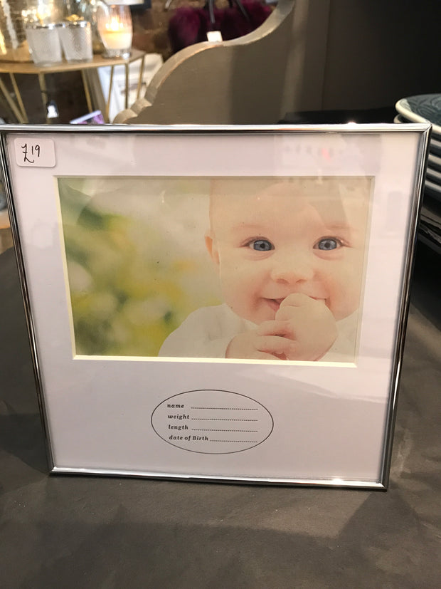 New Baby Photo Frame - with Baby details