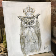 Owl with Crown - Original Canvas Artwork