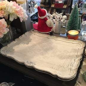 Etched Tray - Large - Allissias Attic  &  Vintage French Style