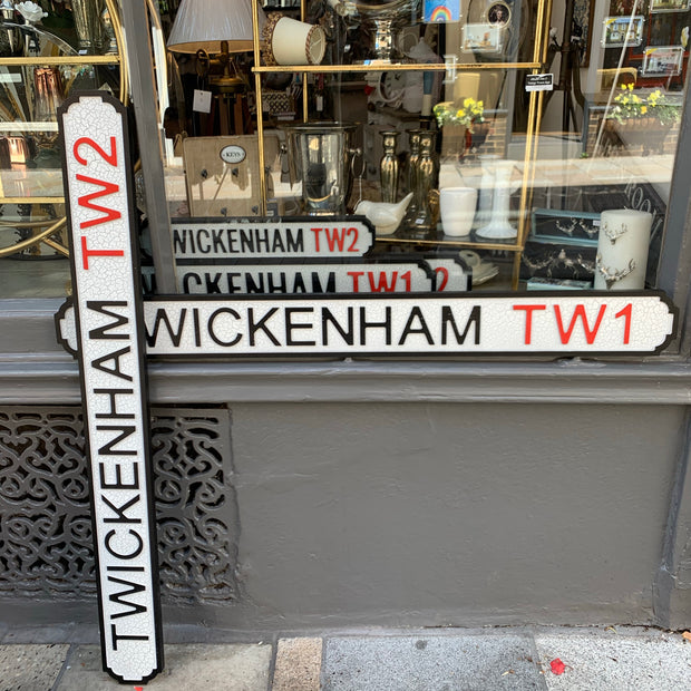 Vintage Styled Twickenham TW1 & TW2 Sign