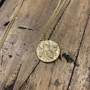 Dragonfly or Bee Gold Toned Necklace