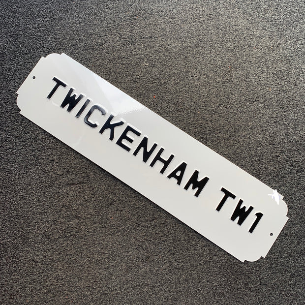 BESPOKE Vintage Road Sign - Twickenham TW1 & TW2 Signs