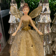 Gold Tree Top Fairy Decoration