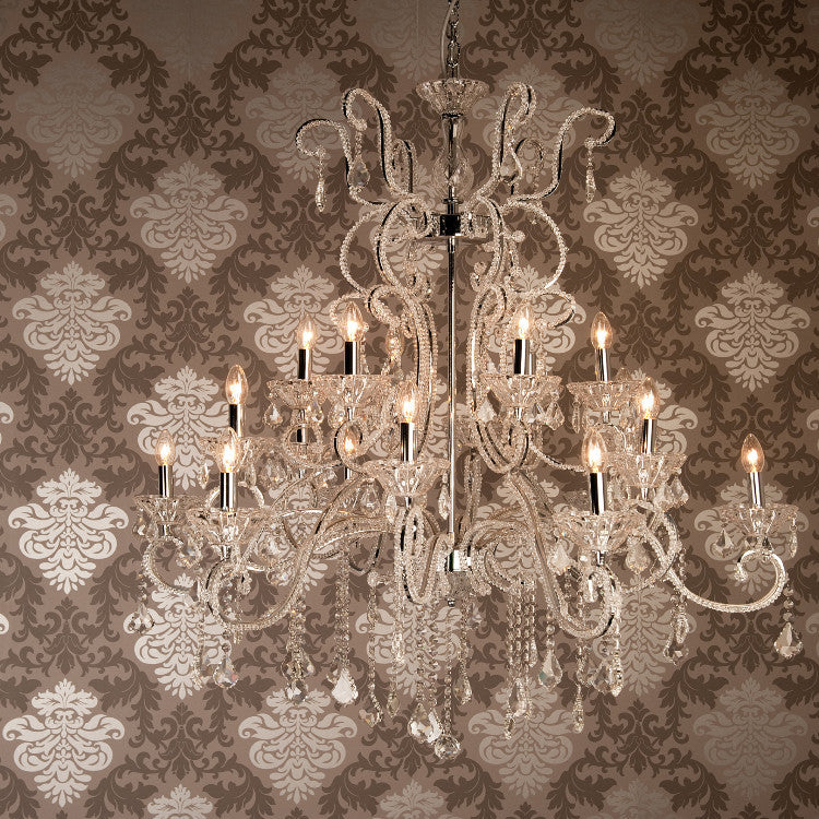 Glamorous Beaded Chandelier - 18 Lights - Allissias Attic  &  Vintage French Style - 1