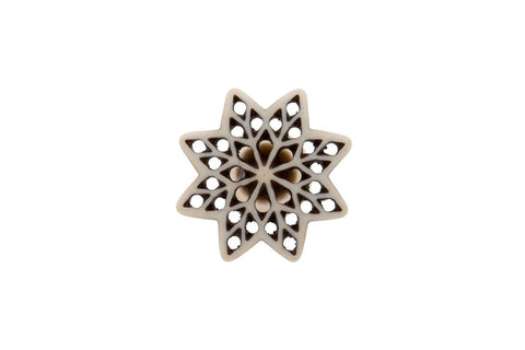 Bone Fretwork Knob Star - Allissias Attic  &  Vintage French Style - 2