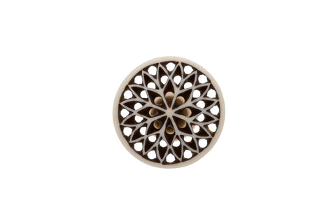 Bone Fretwork Knob Round - Allissias Attic  &  Vintage French Style - 2