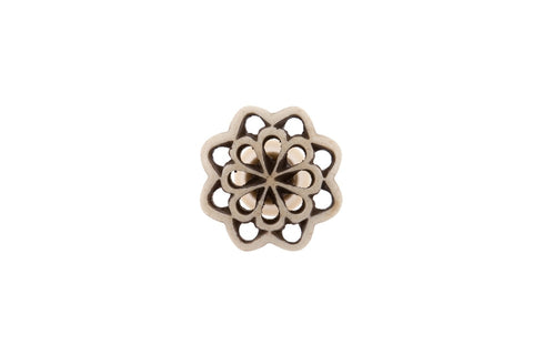 Bone Fretwork Knob Petal - Allissias Attic  &  Vintage French Style - 2