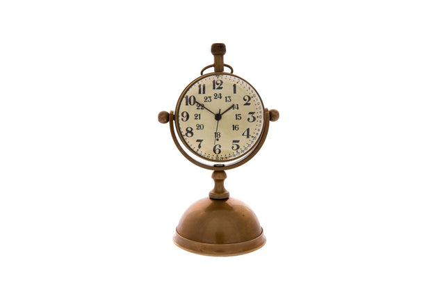 Lovely Brass Petit Desk Clock on Stand - Allissias Attic  &  Vintage French Style - 2