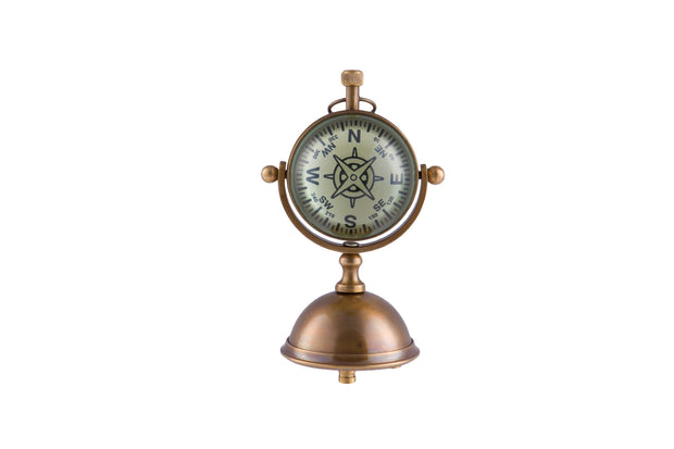 Lovely Brass Petit Desk Clock on Stand - Allissias Attic  &  Vintage French Style - 3