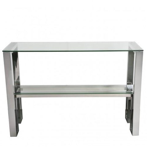 Ollie Chrome Console Table