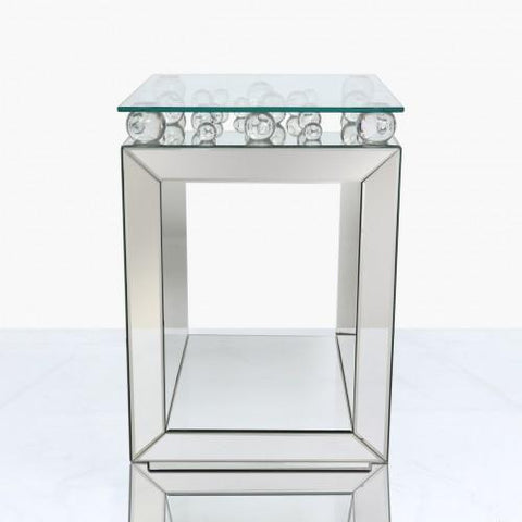 Sphere Mirror End Table