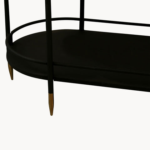 Brookby Black Metal Console Table