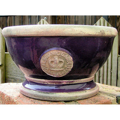Kew Gardens Footed Bowls - Aubergine - Allissias Attic  &  Vintage French Style - 1