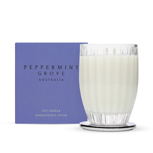 Peppermint Grove - Medium or Large Candle - Sandalwood & Vetiver