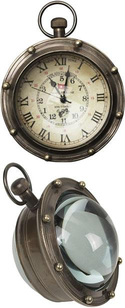 Porthole Eye of Time Clock - Bronze