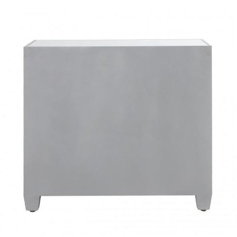 Silver Sunburst 3 Drawer Chest
